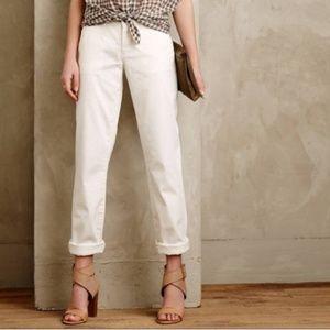 Anthropologie White Pilcro Chino Pants Size 28